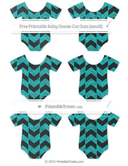 Free Robin Egg Blue Herringbone Pattern Chalk Style Small Baby Onesie Cut Outs