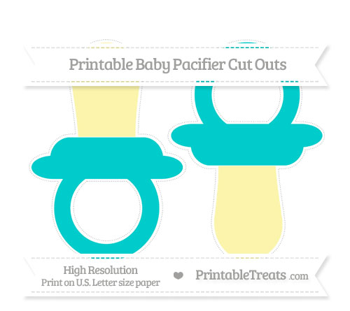 Free Robin Egg Blue Large Baby Pacifier Cut Outs