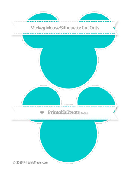Free Robin Egg Blue Large Mickey Mouse Silhouette Cut Outs