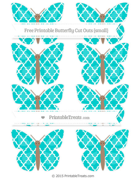 Free Robin Egg Blue Moroccan Tile Small Butterfly Cut Outs