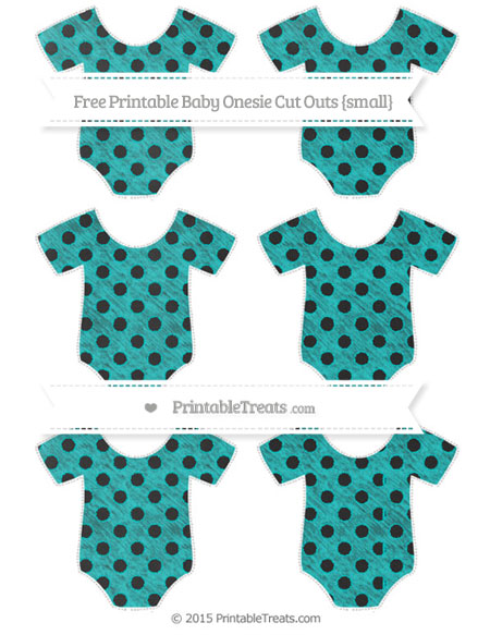 Free Robin Egg Blue Polka Dot Chalk Style Small Baby Onesie Cut Outs