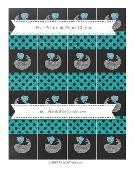 Free Robin Egg Blue Polka Dot Chalk Style Whale Paper Chains