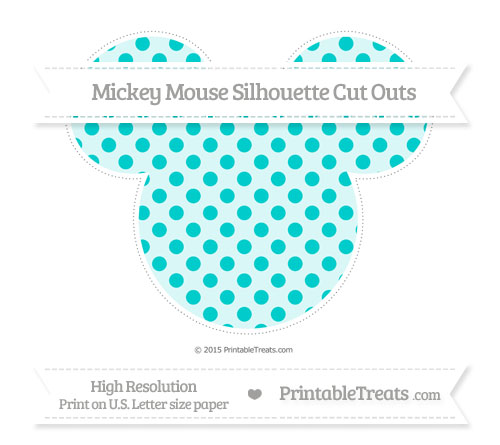 Free Robin Egg Blue Polka Dot Extra Large Mickey Mouse Silhouette Cut Outs