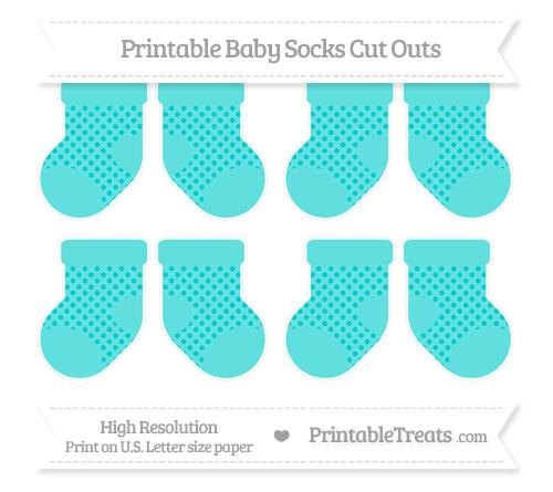 Free Robin Egg Blue Polka Dot Small Baby Socks Cut Outs