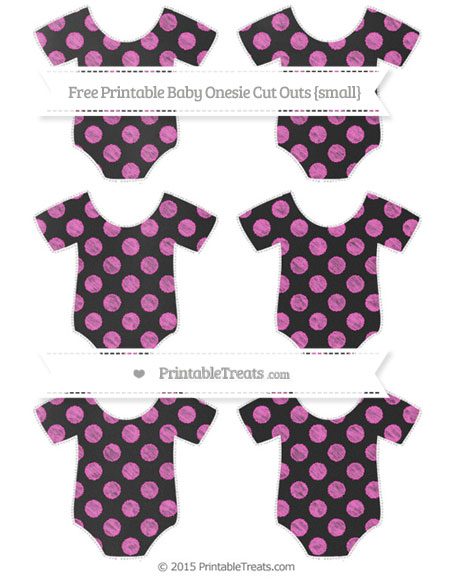 Free Rose Pink Dotted Pattern Chalk Style Small Baby Onesie Cut Outs