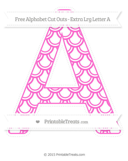 Free Rose Pink Fish Scale Pattern Extra Large Capital Letter A Cut Outs