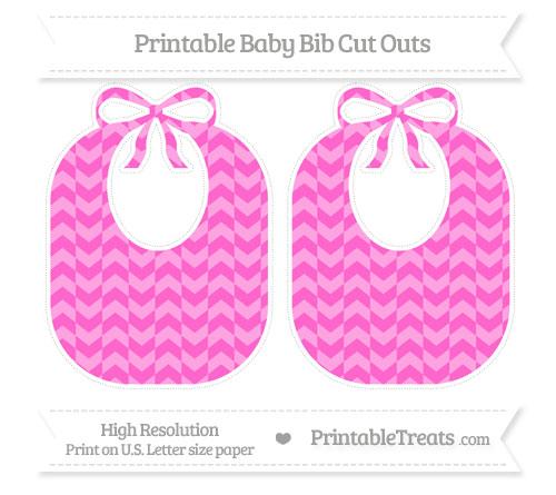Free Rose Pink Herringbone Pattern Large Baby Bib Cut Outs