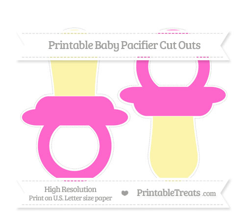 Free Rose Pink Large Baby Pacifier Cut Outs