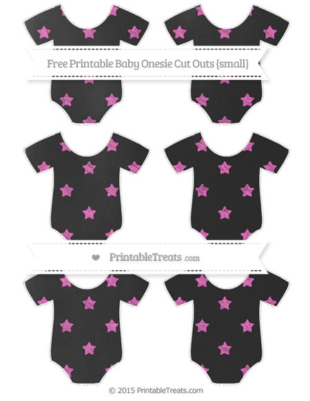 Free Rose Pink Star Pattern Chalk Style Small Baby Onesie Cut Outs