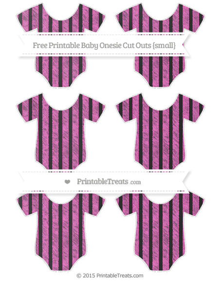 Free Rose Pink Striped Chalk Style Small Baby Onesie Cut Outs