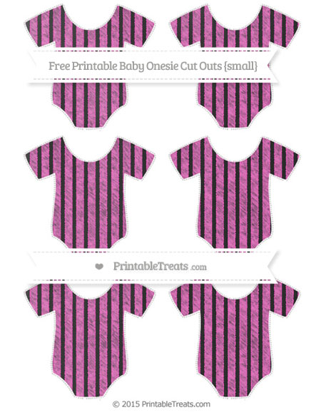 Free Rose Pink Thin Striped Pattern Chalk Style Small Baby Onesie Cut Outs