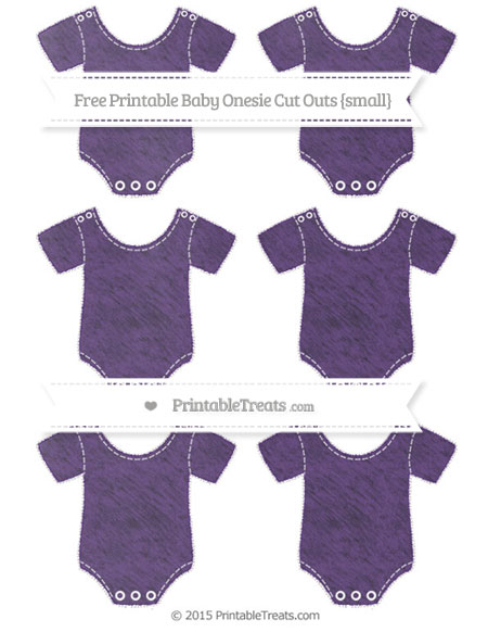 Free Royal Purple Chalk Style Small Baby Onesie Cut Outs