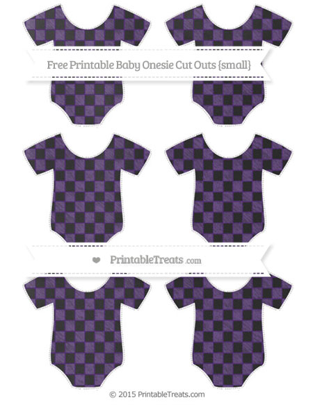 Free Royal Purple Checker Pattern Chalk Style Small Baby Onesie Cut Outs