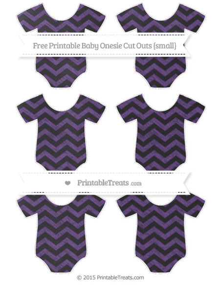 Free Royal Purple Chevron Chalk Style Small Baby Onesie Cut Outs