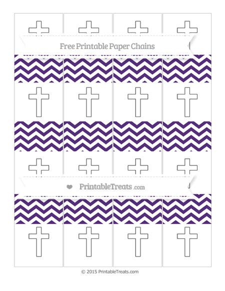 Free Royal Purple Chevron Cross Paper Chains