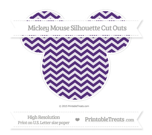 Free Royal Purple Chevron Extra Large Mickey Mouse Silhouette Cut Outs