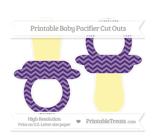 Free Royal Purple Chevron Large Baby Pacifier Cut Outs