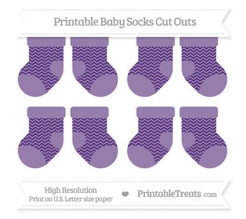 Free Royal Purple Chevron Small Baby Socks Cut Outs