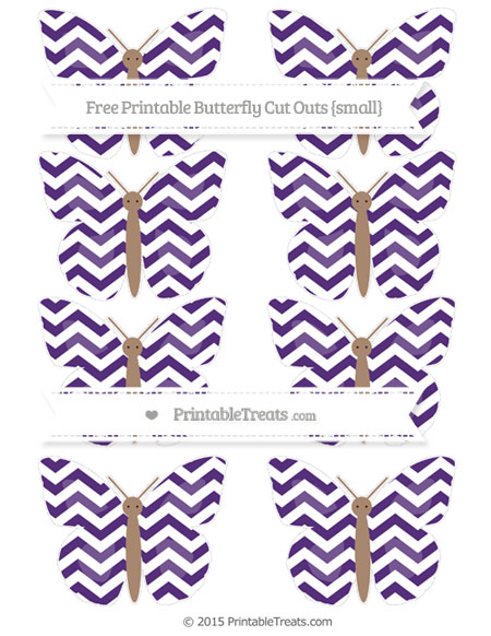 Free Royal Purple Chevron Small Butterfly Cut Outs
