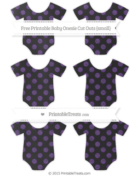 Free Royal Purple Dotted Pattern Chalk Style Small Baby Onesie Cut Outs