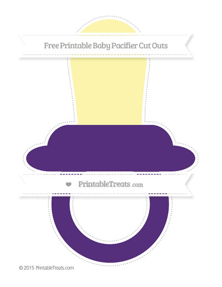 Free Royal Purple Extra Large Baby Pacifier Cut Outs