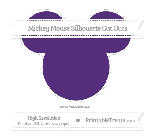 Free Royal Purple Extra Large Mickey Mouse Silhouette Cut Outs