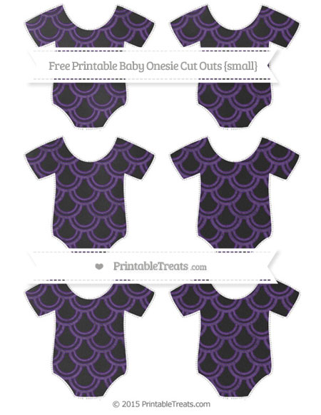 Free Royal Purple Fish Scale Pattern Chalk Style Small Baby Onesie Cut Outs