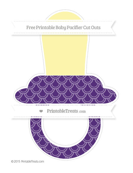 Free Royal Purple Fish Scale Pattern Extra Large Baby Pacifier Cut Outs
