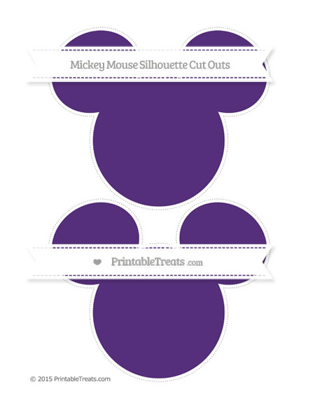 Free Royal Purple Large Mickey Mouse Silhouette Cut Outs