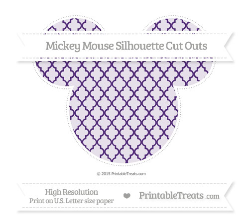 Free Royal Purple Moroccan Tile Extra Large Mickey Mouse Silhouette Cut Outs