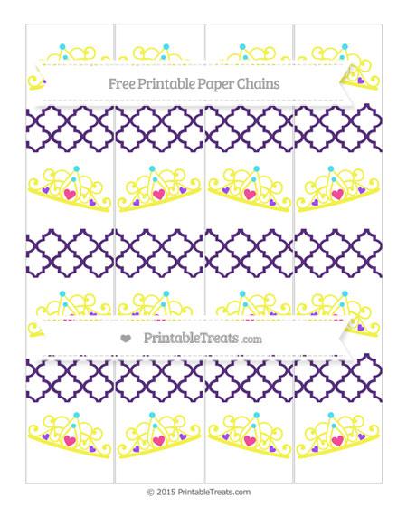 Free Royal Purple Moroccan Tile Princess Tiara Paper Chains