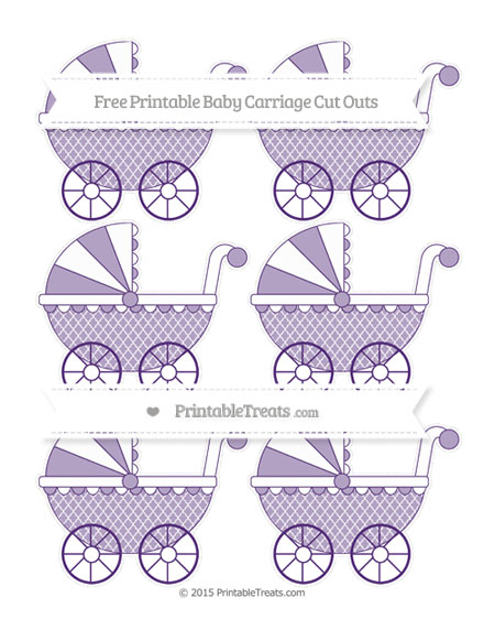Free Royal Purple Moroccan Tile Small Baby Carriage Cut Outs
