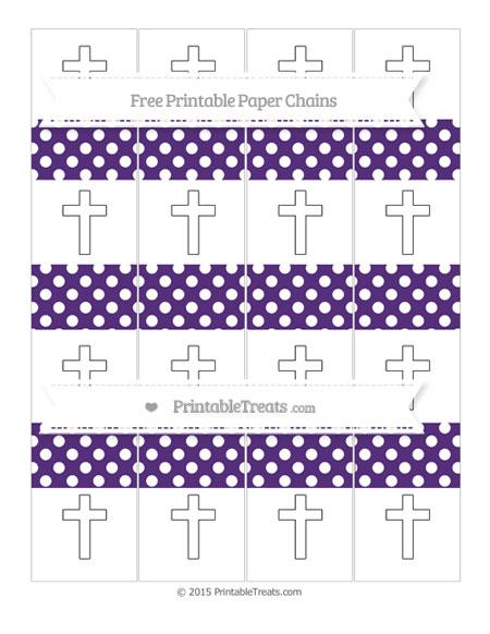 Free Royal Purple Polka Dot Cross Paper Chains