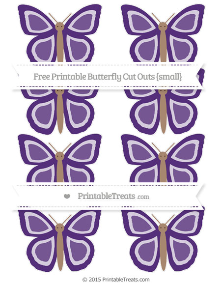 Free Royal Purple Small Butterfly Cut Outs