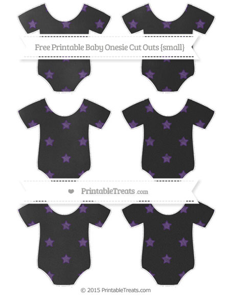 Free Royal Purple Star Pattern Chalk Style Small Baby Onesie Cut Outs
