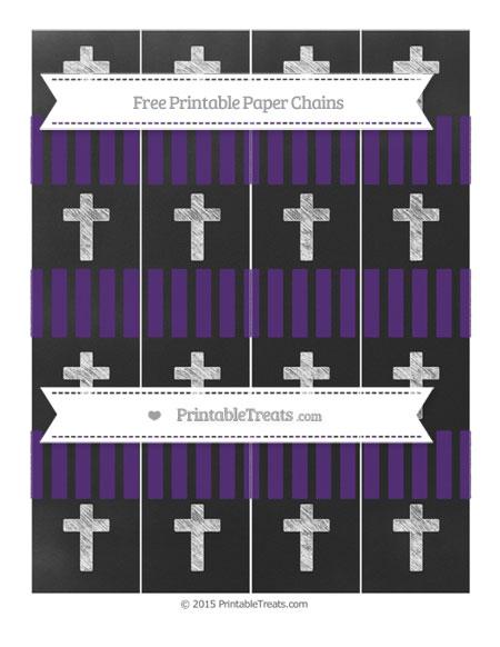 Free Royal Purple Striped Chalk Style Cross Paper Chains