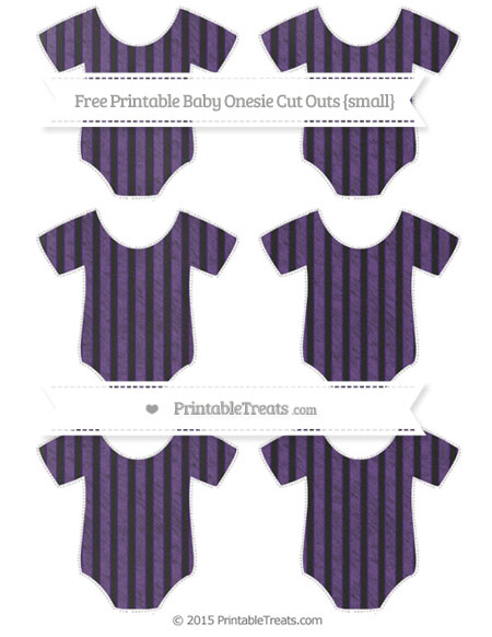 Free Royal Purple Thin Striped Pattern Chalk Style Small Baby Onesie Cut Outs