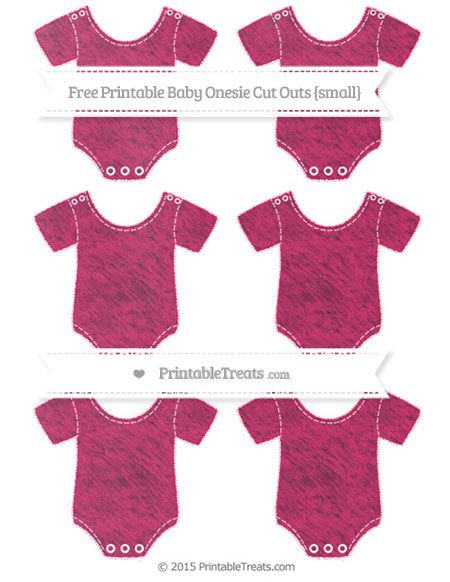 Free Ruby Pink Chalk Style Small Baby Onesie Cut Outs