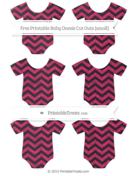 Free Ruby Pink Chevron Chalk Style Small Baby Onesie Cut Outs