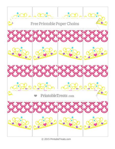 Free Ruby Pink Fish Scale Pattern Princess Tiara Paper Chains
