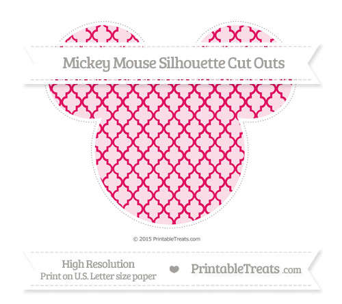 Free Ruby Pink Moroccan Tile Extra Large Mickey Mouse Silhouette Cut Outs