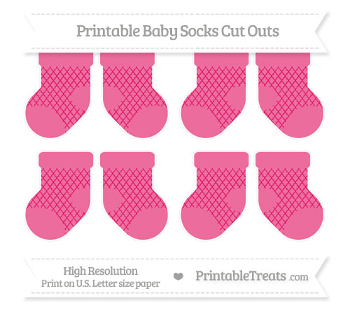 Free Ruby Pink Moroccan Tile Small Baby Socks Cut Outs