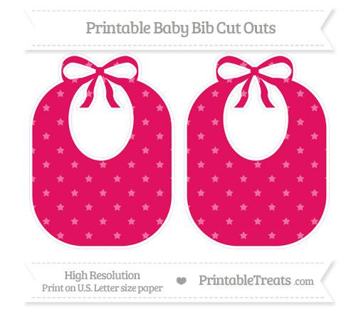 Free Ruby Pink Star Pattern Large Baby Bib Cut Outs