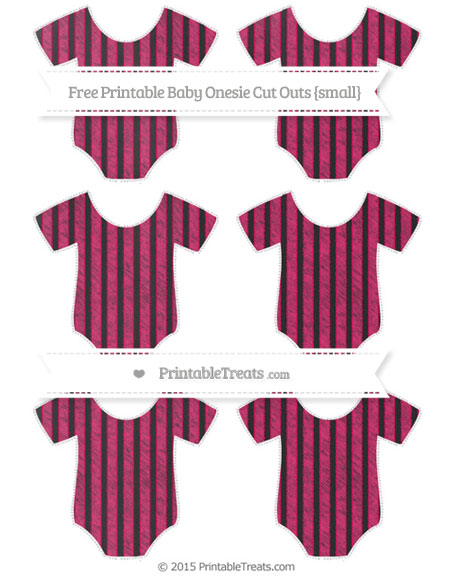 Free Ruby Pink Thin Striped Pattern Chalk Style Small Baby Onesie Cut Outs