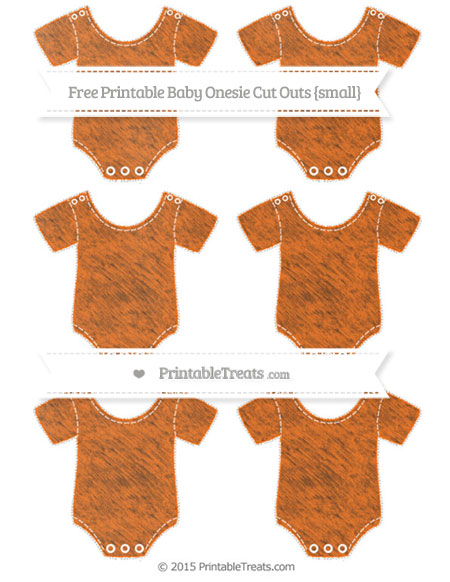 Free Safety Orange Chalk Style Small Baby Onesie Cut Outs
