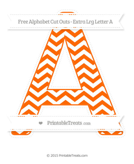 Free Safety Orange Chevron Extra Large Capital Letter A Cut Outs