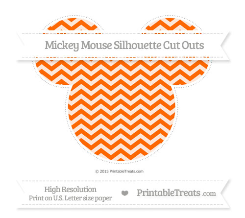 Free Safety Orange Chevron Extra Large Mickey Mouse Silhouette Cut Outs