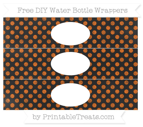 Free Safety Orange Dotted Pattern Chalk Style DIY Water Bottle Wrappers