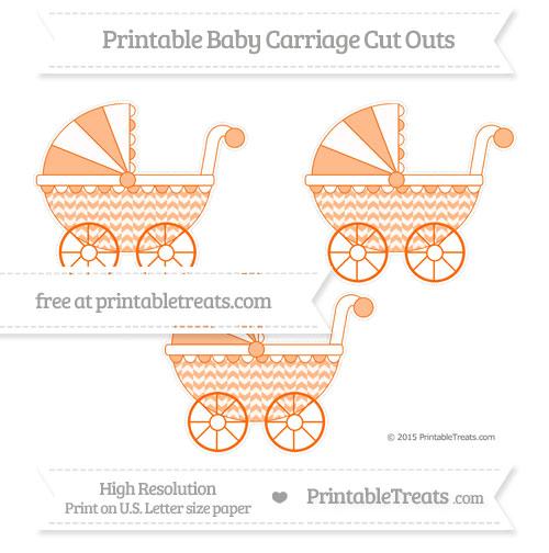 Free Safety Orange Herringbone Pattern Medium Baby Carriage Cut Outs