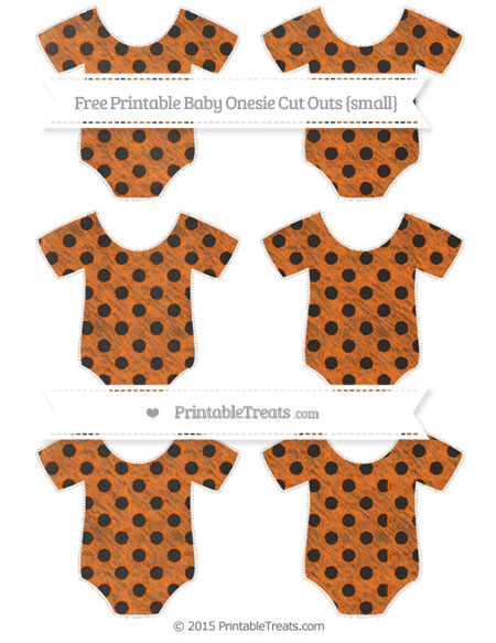 Free Safety Orange Polka Dot Chalk Style Small Baby Onesie Cut Outs